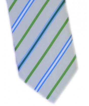 8 cm Hvid Slips Med Grønne...