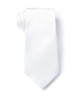 8 cm Hvid Slips - Ens Farvet