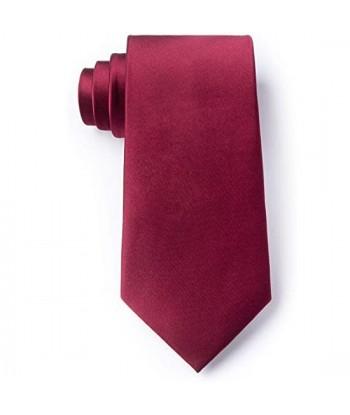 8 cm Mørk Vin Rød Slips -...