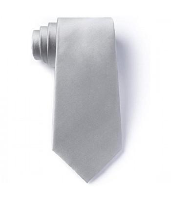 8 cm Sølv Slips - Ens Farvet