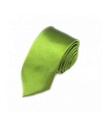 5 cm Grøn Slips - Ens Farvet