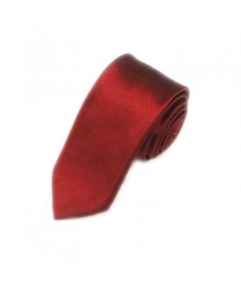 5 cm Mørkerød Slips - Ens...
