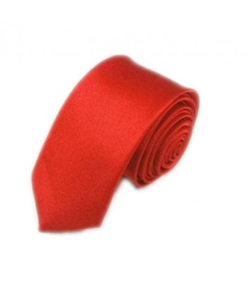 5 cm Rød Slips - Ens Farvet