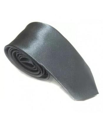 5 cm Gråblå Slips - Ens Farvet
