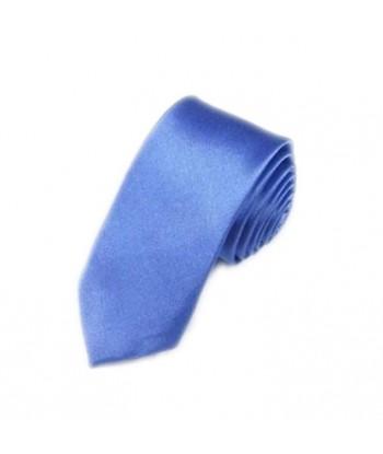 5 cm Blå Slips - Ens Farvet