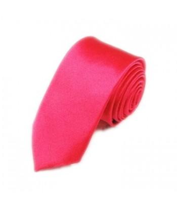 5 cm Mørk Lyserød Slips -...