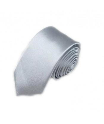 5 cm Sølv Slips - Ens Farvet